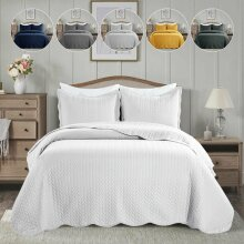 LUXURY QUILTED BEDSPREAD 3PCS BED COVER
