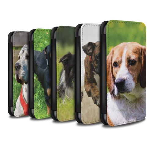 Popular Dog/Canine Breeds Apple iPhone SE Phone Case Wallet Flip Faux PU Leather Cover for Apple iPhone SE