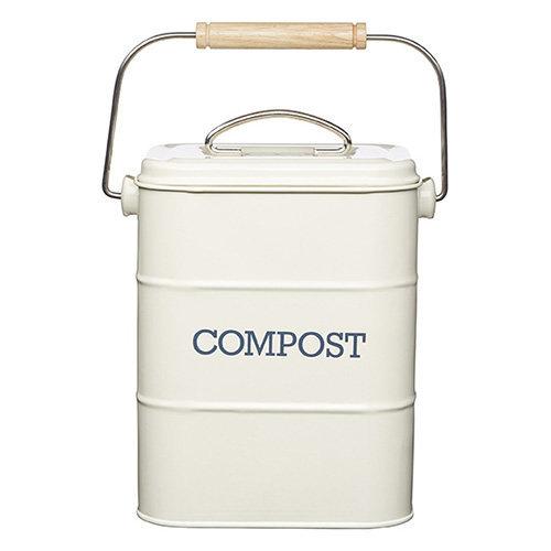 Living Nostalgia Antique Cream Compost Bin