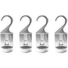 Cooks Standard 02567 Pot Rack Solid Cast Swivel Hooks Set of 4 Silver