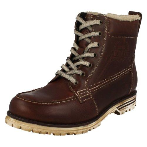 Mens Bugatti Worn Look Ankle Boots Fox F69438