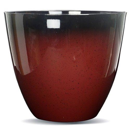 Gr8 Garden Large Round Glazed Effect Egg Cup Planter Patio Flower Plant Pot Tub[Red]