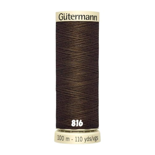 (816, 1 x 100m Spool) Gutermann Sew-All General Purpose Polyester Thread for Hand or Machine Sewing, Embroidery and Stitching 100m Spools