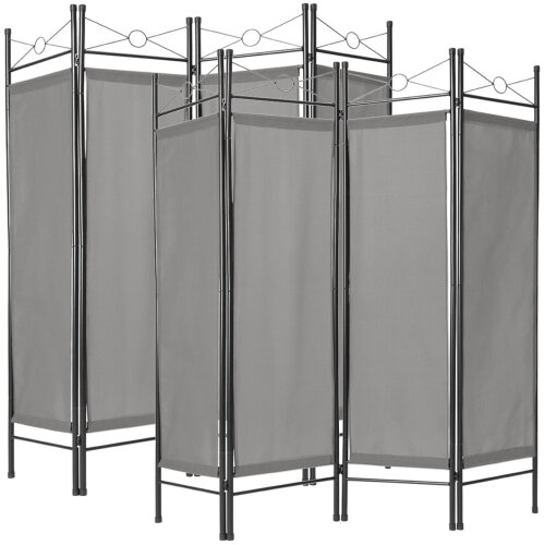 2 room dividers paravent - grey