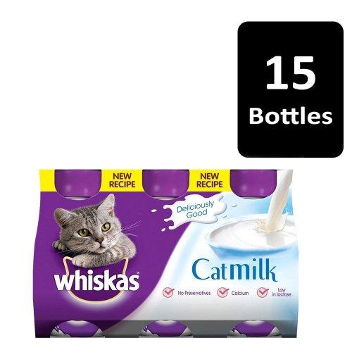 WHISKAS Cat Milk 3 Pack 3x200ml (Pack of 5)