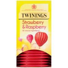 Twinings Strawberry & Raspberry Enveloped Tea Bags - 12x20