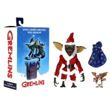 GREMLINS SANTA STRIPE AND GIZMO 7 INCH SCALE ACTION FIGURES