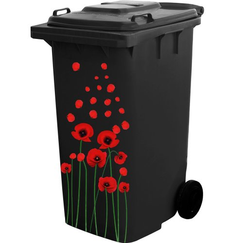Self Adhesive Flower Sticker Kit for Wheelie Bin and House Decoration