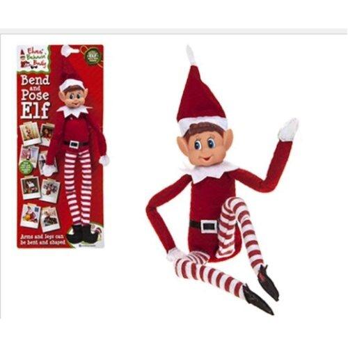 Hoolaroo VIP Elf Bendable Poseable Wired BOY Elf - VIP Elf For Christmas Accessory