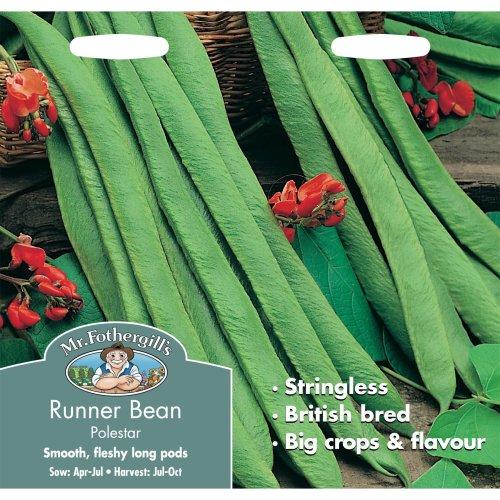 Mr Fothergills - Pictorial Packet - Vegetable - Runner Bean Polestar - 50 Seeds