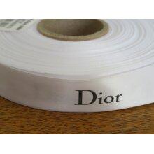 DIOR White Satin Ribbon 20mm Wide - 5 metre lengths