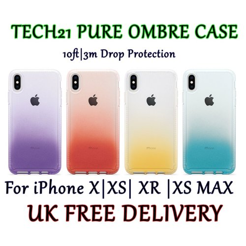 Tech21 Pure Ombré 10ft|3m Drop Protection Ultra-Slim Phone Case Cover