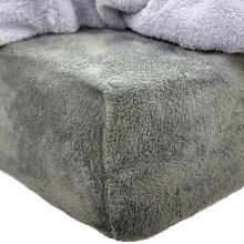 Brentfords Teddy Fitted Sheet, Single, 100% Polyester, Soft Bear Sherpa Fleece, Charcoal Grey