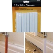 White Radiator Pipe Covers Sleeves Shrouds Snap Around Your Pipes 8 x 15.6CM New