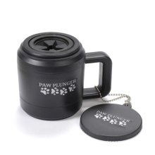 Paw Plunger Medium Black Paw Protector/cleaner for pets. The best way to clean the paws of your dog