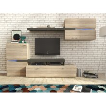 JET Modern Furniture Set Tv Unit Display Stand Wall Mounted Cupboard
