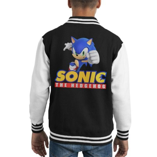 Sonic The Hedgehog Yellow Classic Text Kid's Varsity Jacket