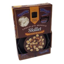 Chocolate Brownie Cast Iron Skillet Baking Kit Mix Snickers & Mallows