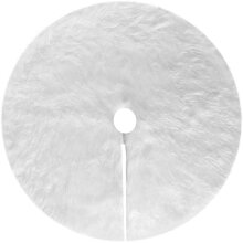 N /A White Plush Christmas Tree Skirts, 36 Inches Faux Fur Xmas Tree Base Cover Mat for Merry Christmas Holiday Home Decorations Tree Decoration (Whit