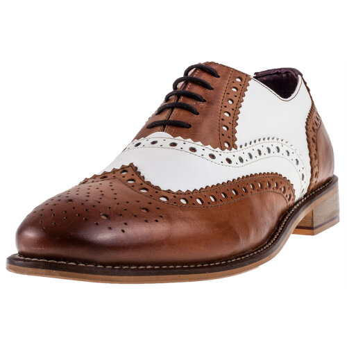London Brogues Handcrafted Gatsby Mens Brogue Shoes