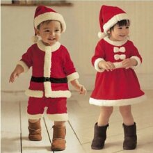 Kids Baby Boy Christmas Xmas Cosplay Romper Jumpsuit Girl Swing Dress Hat Outfit
