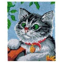 Lovely Kitten Latch Hooking Kit (58x87cm)