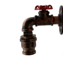Vintage Industrial Rustic Steampunk Water Pipe Wall Mounted Lamp Light