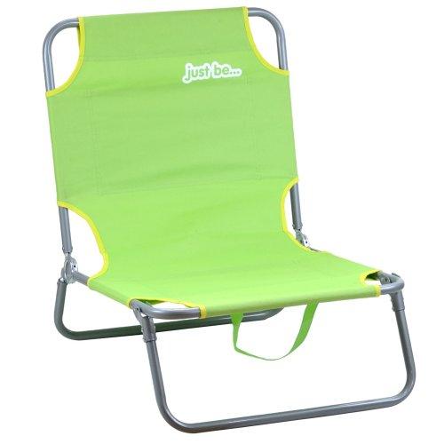 just be...® Beach & Garden Folding Sun Chair Lounger - Green
