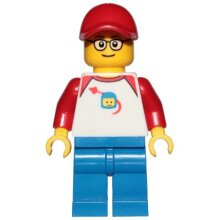 LEGO City Man with Classic Space Shirt Minifigure from 60197