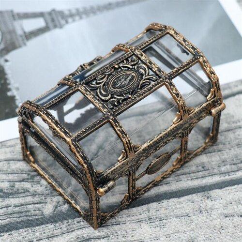 (As Seen on Image) Pirate Treasure Box, Transparent Drawing, Texture Crystal, Gem Jewelry Box, Storage Trinket Keepsake