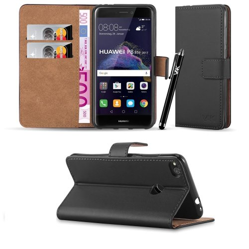 For Huawei P8 Lite 2017 Leather Wallet Case Cover