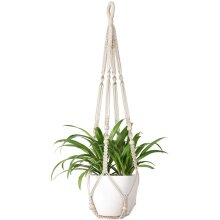 Ezylivin Macrame Plant Hanger Wall or Ceiling Hanging Hand-Made Holder