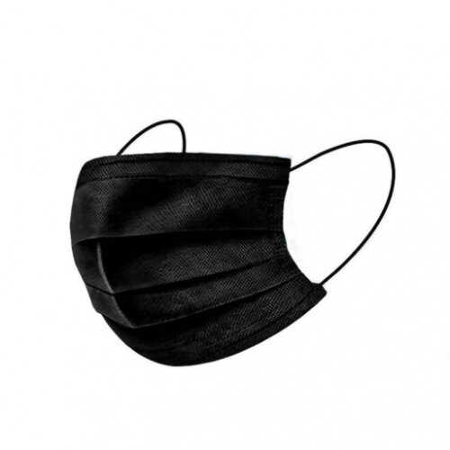 50 PCS BLACK DISPOSABLE 3 LAYER FACE MASK PPE HIGH QUALITY COMFORTABLE