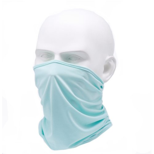 (Light Blue) Snood Face Covering | Reusable Washable Face Mask