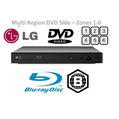 LG BP250 Blu-Ray / Multi Region DVD Player - HDMI