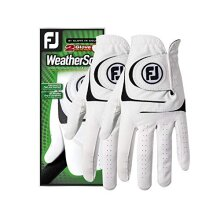 FootJoy Mens WeatherSof 2-Pack golf glove White X-Large, Worn on Left Hand