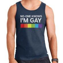 No One Knows Im Gay Men's Vest