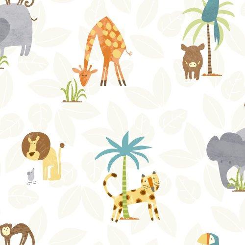 Holden Jungle Friends Childrens Animal Wallpaper Lion Monkey Kids Cartoon 12541