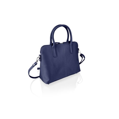 "Woodland Leather Navy Tote Bag 12.0"" Carry Handles"