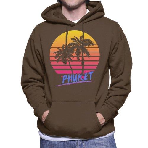 Phuket Retro 80s Men's Hooded Sweatshirt