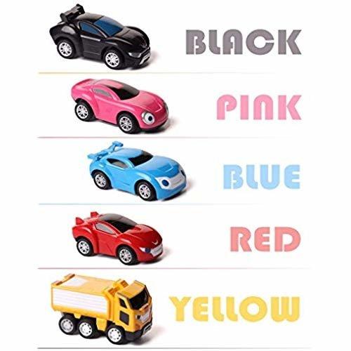 5pcsSet Korean Cartoon Power Coin Watch Car Character Bus