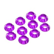 10Pcs M2.5 Cup Head Hex Screw Gasket Washer Nuts Aluminum Alloy Multicolor