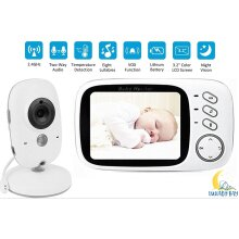Lullaby Bay Video Baby Monitor with Camera. Anti-Hack Encryption. Wireless Digital 3.2 inch LCD Screen. Night Vision. Temperature Sensor. 2-