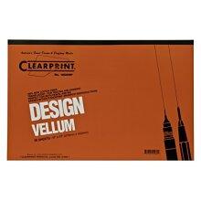 Clearprint 1000H Design Vellum Pad 16 lb. 100% Cotton 11 x 17 Inches 50 Sheets Translucent White 1 Each (10001416)