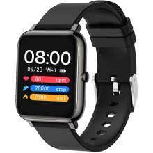 Popglory Smart Watch, Fitness Tracker with Blood Oxygen, Blood Pressure, Heart Rate Monitor, IP67 waterproof Smartwatch Fitness Watch Smart Watch for