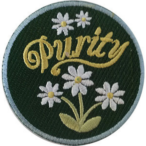 Patch - Inspirational - Purity With Flower Icon-On p-dsx-4859