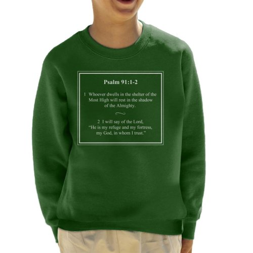 Religious Quotes Shadow Of The Almighty Psalm 91 1 2 Kid's Sweatshirt