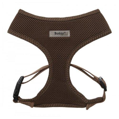 (Brown, Large) Bunty Adjustable Soft Mesh Dog Harness