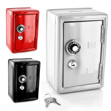SAFE MONEY BOX BANK METAL WITH COMBINATION LOCK