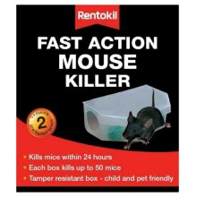 Rentokil PSF135 Fast Action Mouse Killer - Pack of 2